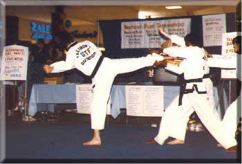 taekwondo board breaking demo